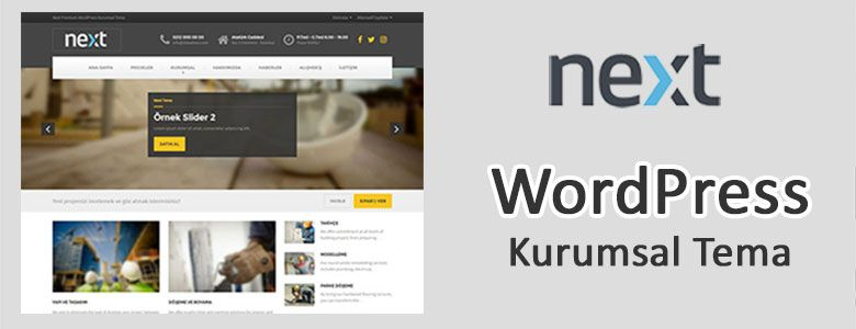 Next Wordpress Kurumsal Tema